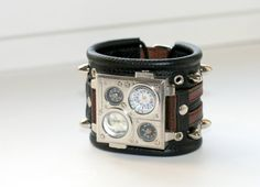 """Mens Watch-""""Protest-2""""-Steampunk Watch Men-Military Watch Men-Women Watches-Mens Wrist Watch-Mens Watch Leather-Gifts"""