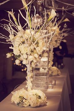 beautiful for an all white winter wedding