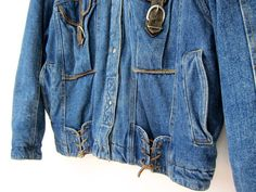 Oversized Slouchy Denim Jean Jacket 80s by dirtybirdiesvintage