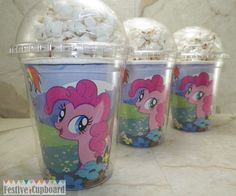 My Little Pony Birthday Party Snack Cups Favors by FestiveCupboard