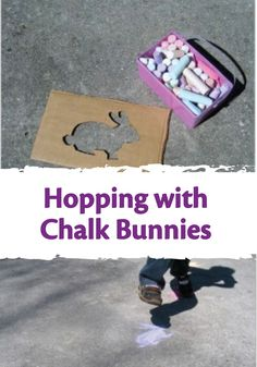 Easter is right around the corner! Check out this bunny hop game made with Crayola Sidewalk Chalk to get your kids ready for the Easter Bunny!