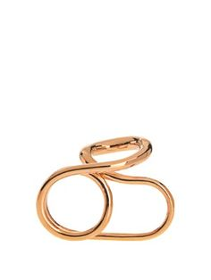 Charlotte Chesnais Initial gold-plated ring p0KM6Uo