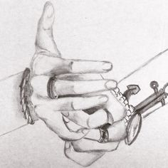 Hands. Pencil drawing