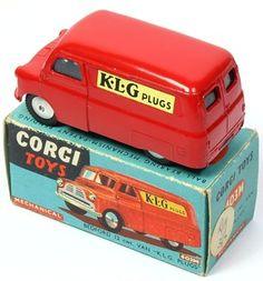 """Corgi Toys 403M Bedford Dormobile """"KLG Plugs"""""""