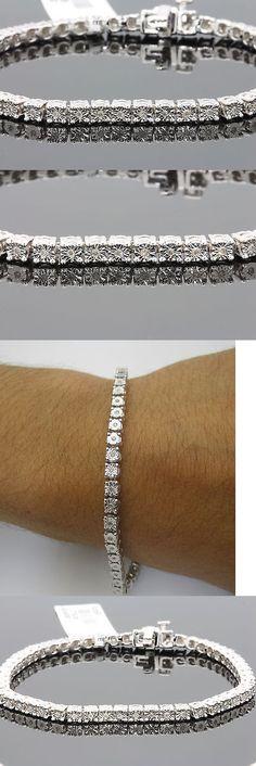 Diamond 2 00 Carat Diamond Bracelet In 14K White Gold