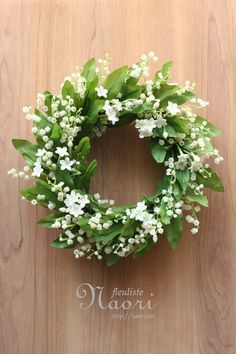 """Lily of the Valley - 28cm (11"""") artificial floral wreath"""