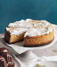 Pumpkin Cheesecake - made this receipe last year and it was delicious and easy.  Big Hit!