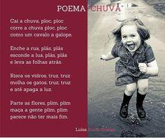 "Poema ""Chuva""- Luísa Ducla Soares"