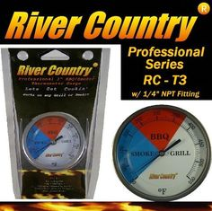 River Country RC-T3 Color Coded Thermometer Barbecue Accessory by River Country. $16.97. River Country 3 Barbecue Thermometers have been specifically designed and manufactured with the highest accuracy and craftsmanship around for todays desiring cooks, whether youre a novice or a professional  Heavy-duty steel construction Professional grade internal components Easy-to-read 2 color coded display High range for grill startups (100 to 550F) Non-obtrusive  x 2  thermomet...