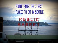 7 Best Places to eat in Seattle - We didn't care for Dick's Drive-In, but understand the place in Seattle history. Fu-Man Dumpling House is near our new home - found it by accident and LOVED it! Need to check out the others!