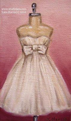 wedding dress paintings - Google Search