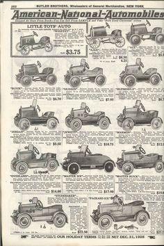 1928 Butler Bros. Catalog Pedal cars