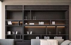 New Living Room Shelves Display Bookcases Ideas Regal Design, H Design, Shelf Design, Cabinet Design, House Design, Home Interior, Living Room Interior, Interior Architecture, Interior Design