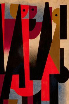 Carlos Merida. Three Maidens (at NSU Art Museum Fort Lauderdale | Kahlo, Rivera + Mexican Modern Art).