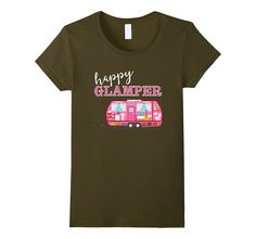 Happy Glamper Pink RV Camper Shirt - Funny Camping Girl Tee
