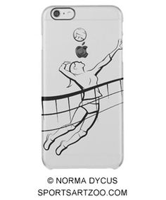Volleyball Spike Female Clear iPhone 6 Plus Case by #SportsArtZoo #volleyball #case