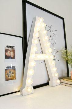 Do it yourself vintage letter light
