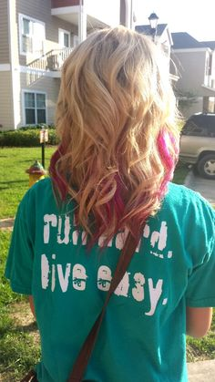Blonde with pink peekaboos