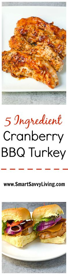 This 5 Ingredient Cranberry BBQ Turkey recipe is a great Memorial Day recipe to kick off the grilling season with!