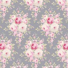 Tilda Corner Shop Fabric - Laura Bluegrey
