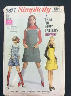 1960's JumperTeen PatternEasy To Sew