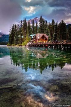 Reflection, Emerald Lake, Canada photo by edwardmarcinek