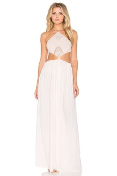 Indah Revel Maxi Dress in Peach