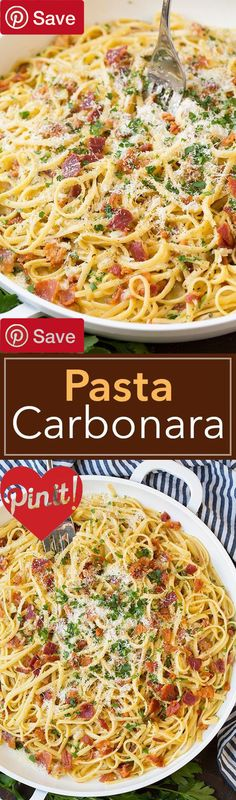 Pasta Carbonara #delicious #diy #Easy #food #love #recipe #recipes #tutorial #yummy @ICookUEat - Make sure to follow @ICookUEat cause we post alot of food recipes and DIY we post Food and drinks gifts animals and pets and sometimes art and of course Diy and crafts films music garden hair and beauty and make up health and fitness and yes we do post women's fashion sometimes and even wedding ideas travel and sport science and nature products and photography outdoors and indoors men's fashion…