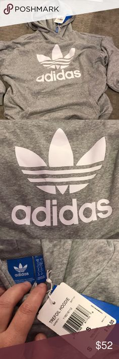 Men's sz small grey adidas hoodie Men's sz small grey adidas hoodie can fit women's medium I believe. Trefoil hoodie retail $70 adidas Tops Sweatshirts & Hoodies http://feedproxy.google.com/WomenShoesA2