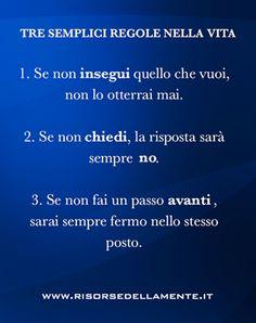 tre semplici regole della vita