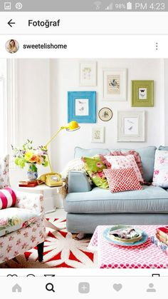 a colourful country living room photograph by rachel whiting