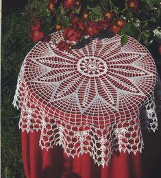 ru / φωτογραφία # 14 - Diana № 64 Hakel-Ideen - Maria-Nikolaevna Crochet Tablecloth Pattern, Crochet Doily Rug, Crochet Placemats, Crochet Bedspread, Crochet Doily Patterns, Filet Crochet, Crochet Stitches, Crochet Hooks, Border Embroidery Designs