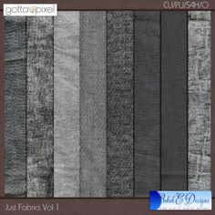 Just Fabrics Vol. 1 Digital Scrapbook CU fabric textures $4.36 at Gotta Pixel. www.gottapixel.net