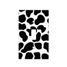 Shop Black & White Cow Print Rustic Farm Light Switch Cover created by printabledigidesigns. Cow Kitchen Decor, Cow Decor, Light Switch Art, Light Switch Covers, Bedroom Decor For Couples, Room Ideas Bedroom, Bedroom Designs, White Cow, Black White