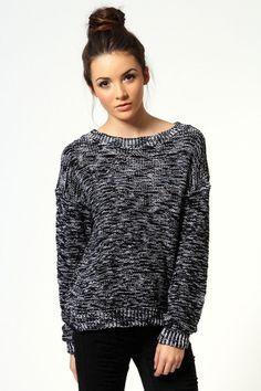 Knit Sweater Metallic Stitch