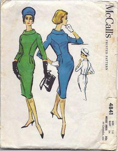 1950s McCalls 4841 Sheath Dress Pattern Size 14 by BettysBuys,