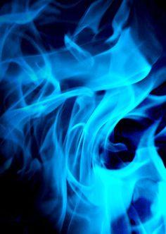 Blue flame of YAHUWAH's glory