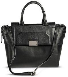Mossimo Women's Tote Handbag with Flap Closure - Black on shopstyle.com