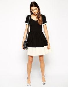 ASOS Contrast Skater Dress