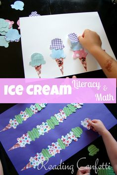 what a fun way to incorporate a little summer learning, I'd pair this with a real ice cream cone for snack time :)