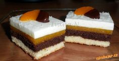Mandarinkové řezy s jogurtem Nutella, Baked Goods, Cheesecake, Dessert Recipes, Food And Drink, Cooking Recipes, Sweets, Baking, Cakes