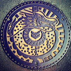 #Japan #sewer lid - high art in low places; we really need to up our game on #street art in the U.S.