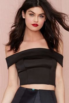 After Party Vintage Laila Satin Crop Top | Shop What's New at Nasty Gal