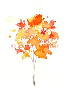 watercolor sun   Bouquet of Sunshine original watercolor painting 8x10 inches