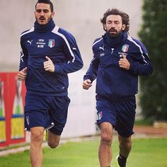 Bonucci and Andrea Pirlo Italy national football team
