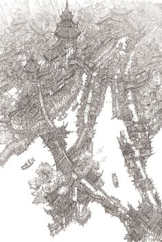 Asian old city by jungmin - Minseub Jung - CGHUB via PinCG.com