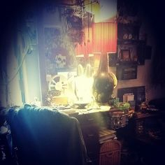 My wonderful work desk where I make almost all of my creations!;)
