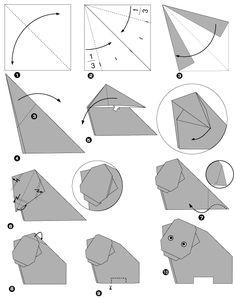 Origami del hipopótamo