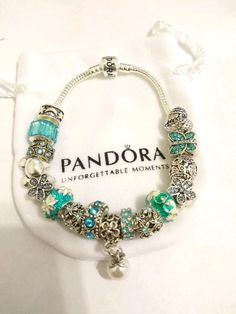 All beads and charms are interchangeable so you can take off and add as you wish. Pandora Accessories, Silver Bangle Bracelets, Love Story, Charms, Watches, Beads, Handmade, Jewelry, Wrist Watches