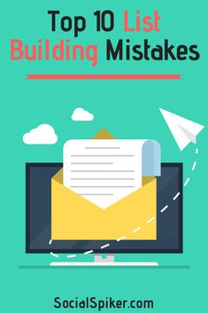 Learn how to avoid the top 10 list building mistakes. We will show you the best list building strategies, tips and ideas that will rocket your list building on social media and your website Email Marketing Lists, Marketing Software, Content Marketing, Internet Marketing, Social Media Marketing, Digital Marketing, Sales Strategy, Marketing Strategies, Web Design Company